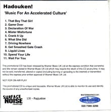 Hadouken - Music For An Accelerated Culture