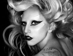 Lady Gaga black and white