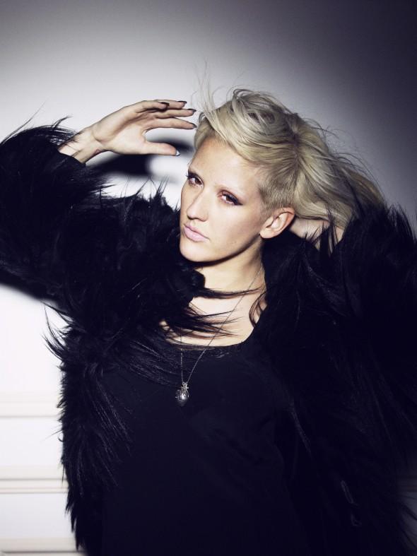 Ellie Goulding in a nice coat
