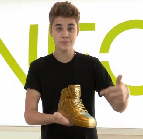 Justin Bieber's shoe