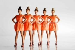 Girls Aloud in a row