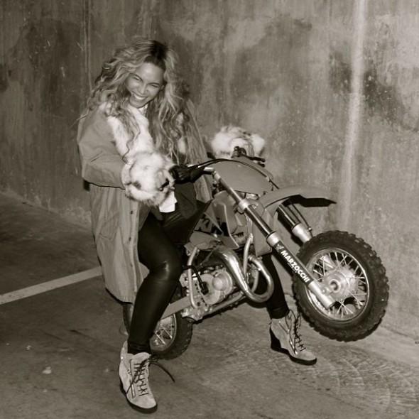 Beyonce motorbike