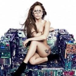 Gaga on a chair