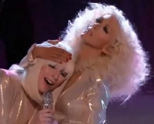 Gaga and Aguilera