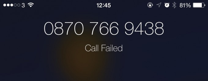 call-failed