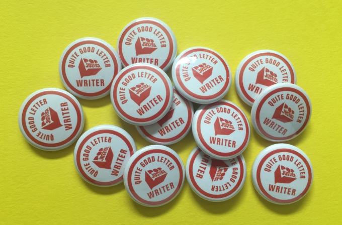 letters badges