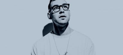 jack antonoff on a nice blue background